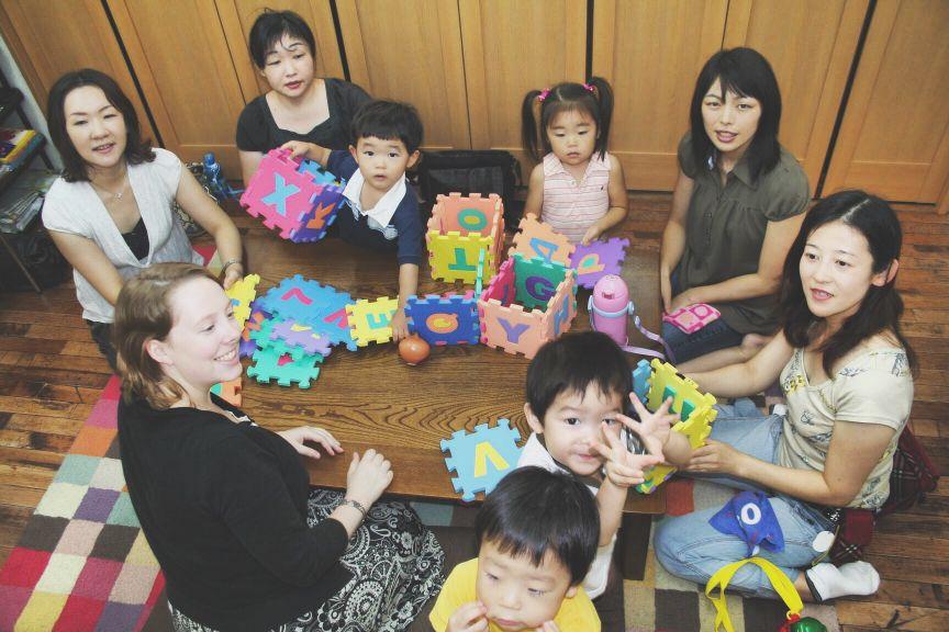 キッズレッスンで子供達が集まりました。